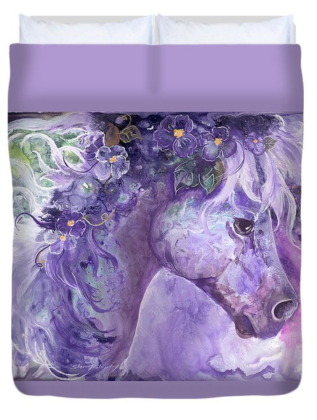 Violet Fantasy Duvet Cover by Sherry Shipley