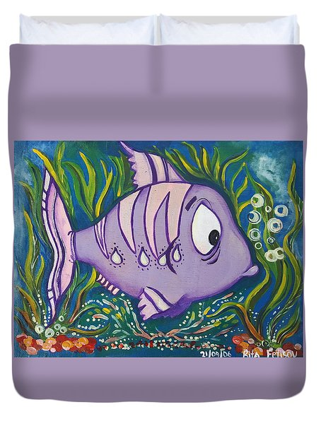 Violet Fish Duvet Cover by Rita Fetisov