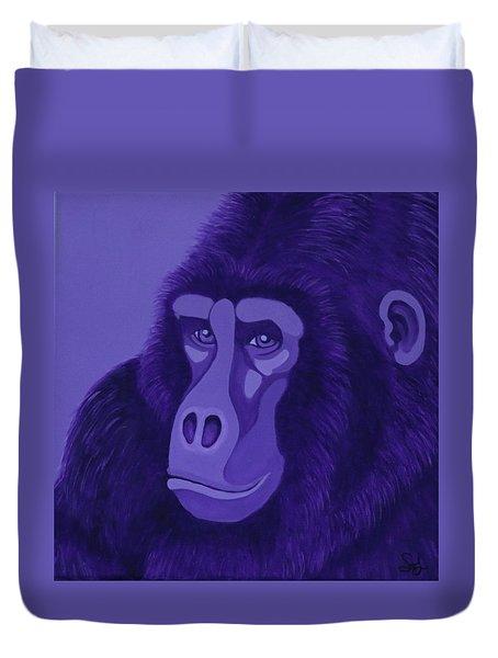 Violet Gorilla Duvet Cover