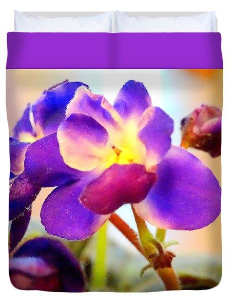 Violet In Bloom Duvet Cover