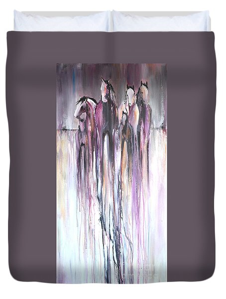 Violet Mirage 2 Duvet Cover