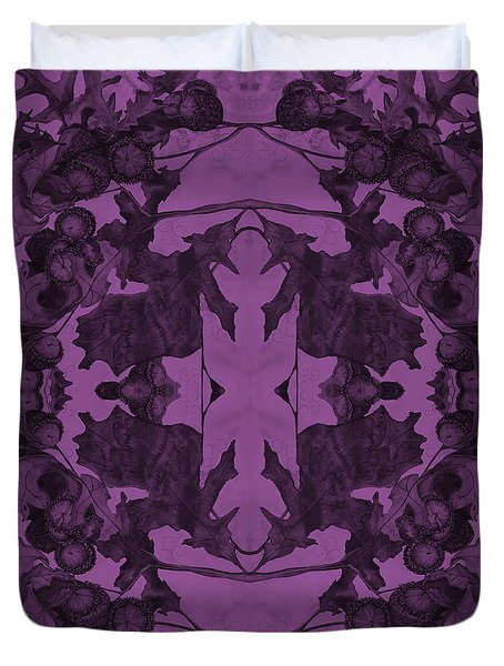 Violet Oak Tree Pattern Duvet Cover