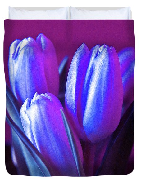 Violet Poetry Of Spring Duvet Cover