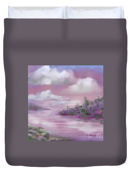 Violet Sunset Duvet Cover