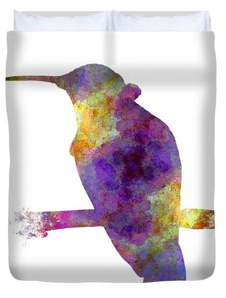 Hummingbird 01 In Watercolor Duvet Cover