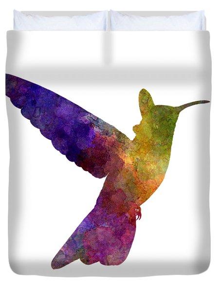 Hummingbird 02 In Watercolor Duvet Cover