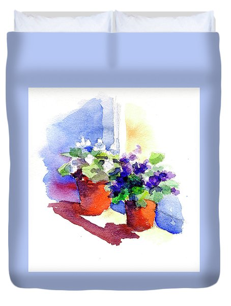 Violets Are Blue Duvet Cover