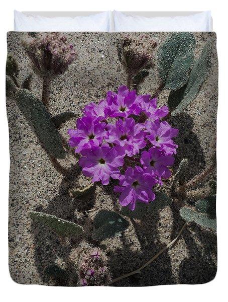 Violets In The Sand Duvet Cover