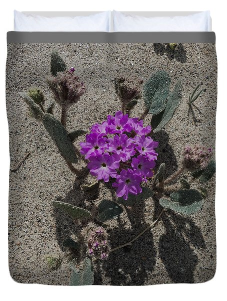 Violets In The Sand Duvet Cover