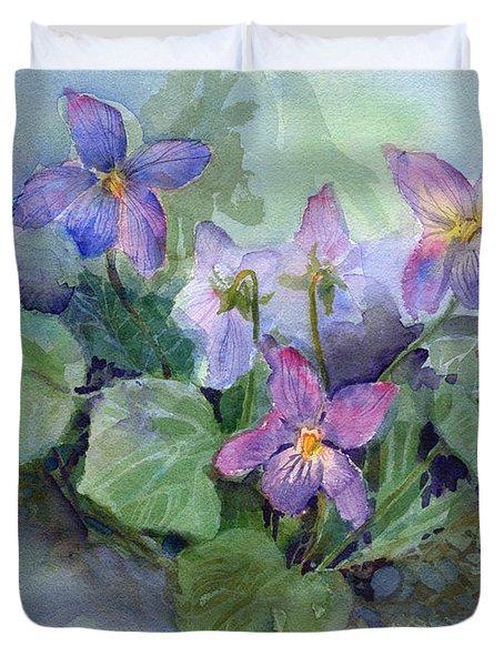 Violets Duvet Cover