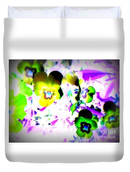 Violets Duvet Cover by Pauli Hyvonen
