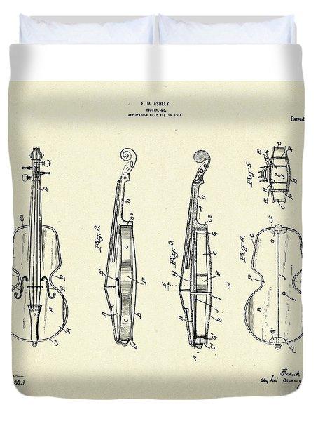 Violin-1921 Duvet Cover by Pablo Romero