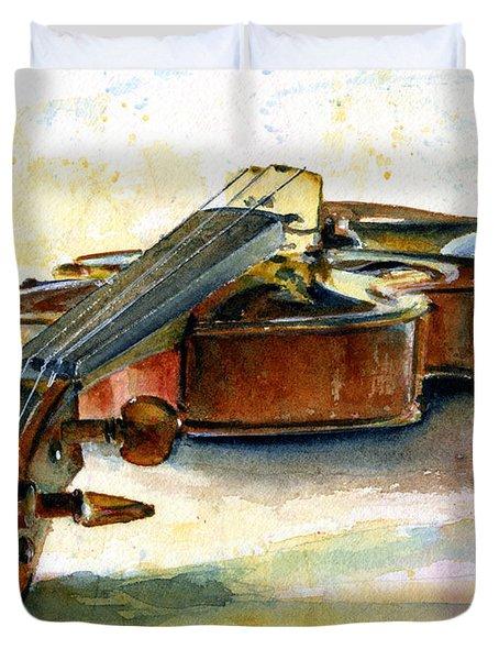 Violin 2 Duvet Cover by John D Benson