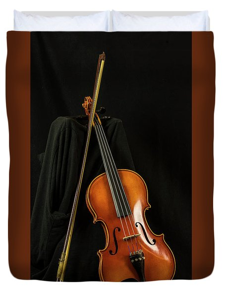Violin And Bow Duvet Cover