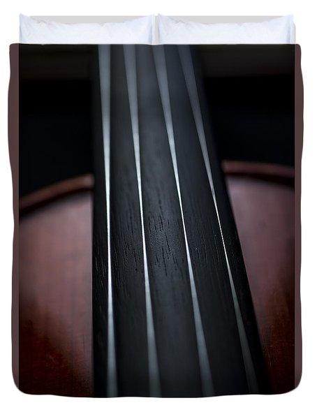 Violin Portrait Music 3 Duvet Cover by David Haskett