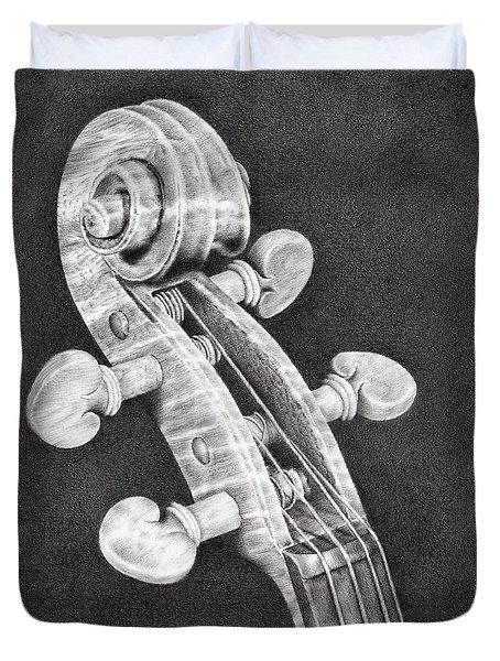 Violin Scroll Duvet Cover