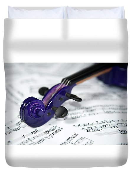 Violin Tuning Pegs  Duvet Cover
