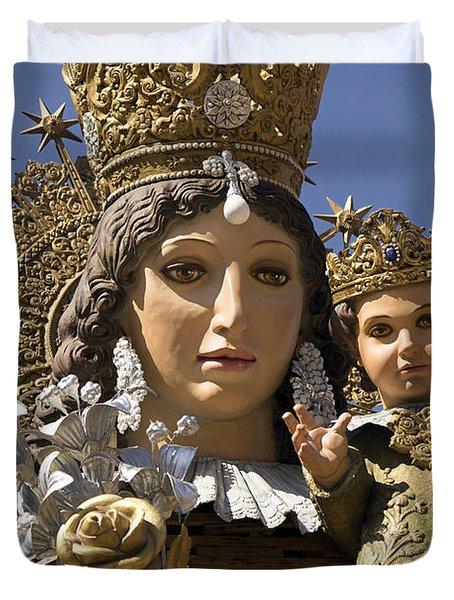 Virgen De Los Desamparados Duvet Cover