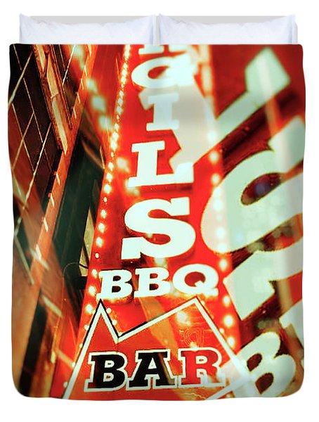 Virgils Real Bbq New York City Duvet Cover
