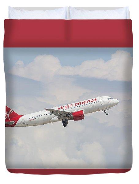 Virgin America Duvet Cover