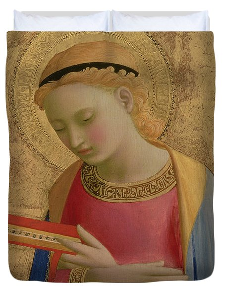 Virgin Annunciate Duvet Cover by Fra Angelico