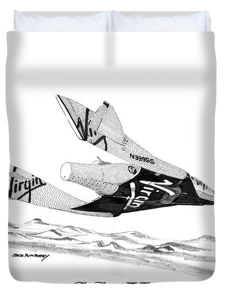 Virgin Galactic Vehicle. Space Ship Two Duvet Cover