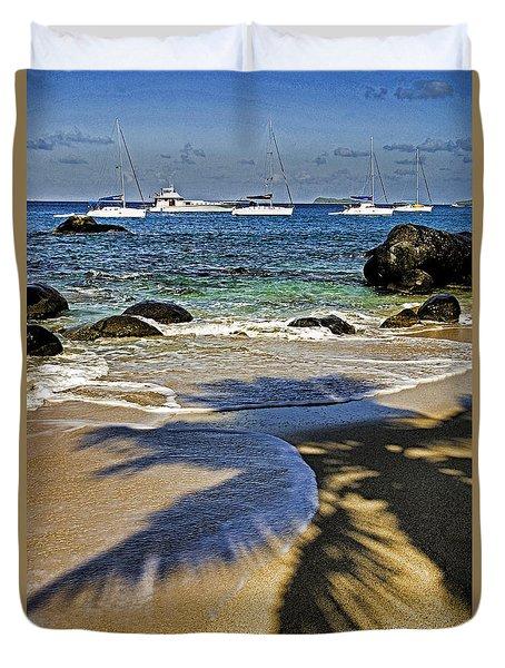 Virgin Gorda Beach Duvet Cover by Dennis Cox WorldViews