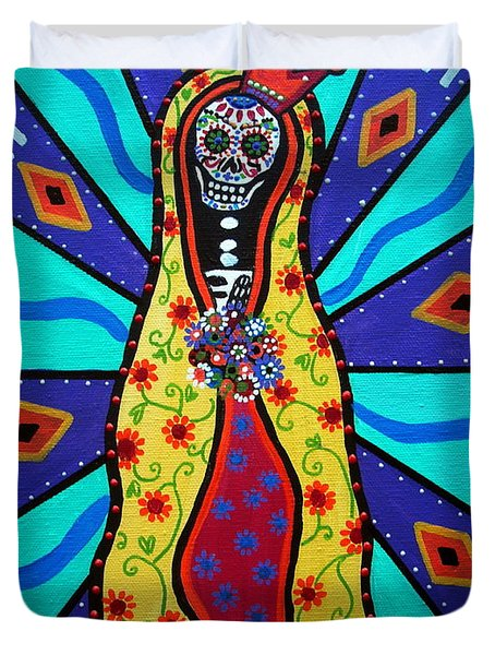 Virgin Guadalupe Day Of The Dead Duvet Cover