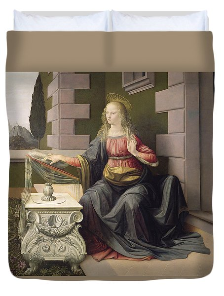 Virgin Mary, From The Annunciation Duvet Cover
