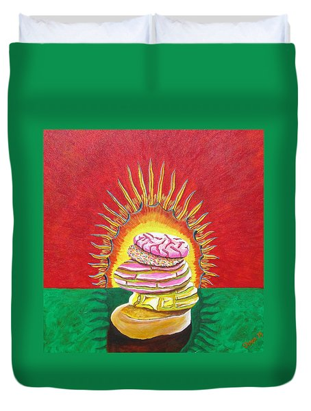 Virgin Mexican Sweet Bread Duvet Cover by Manny Chapa