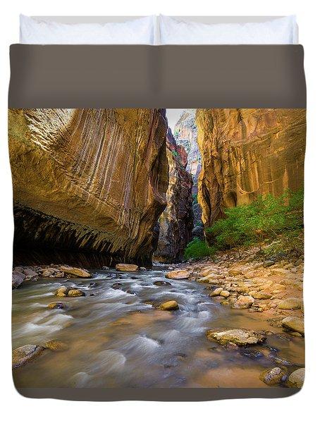 Virgin River - Zion National Park Duvet Cover