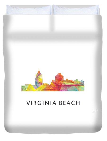 Virginia Beach  Virginia Skyline Duvet Cover