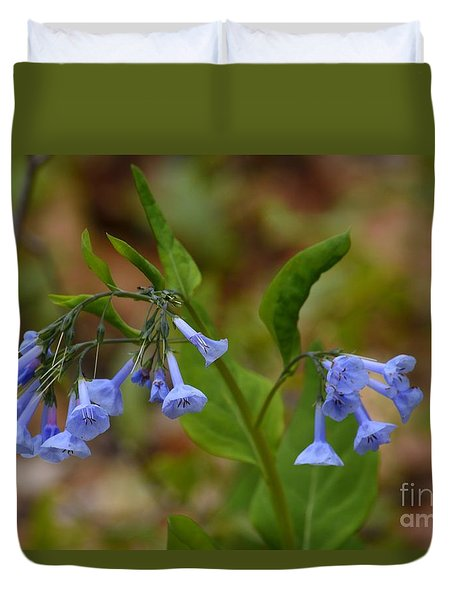 Virginia Bluebells Duvet Cover