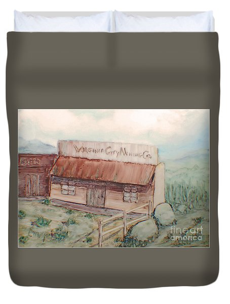 Virginia City Mining Co. Duvet Cover