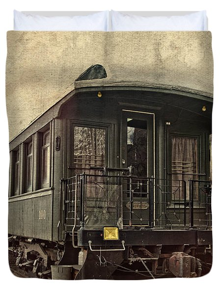 Duvet Cover featuring the photograph Virginia City Pullman Car by Thom Zehrfeld