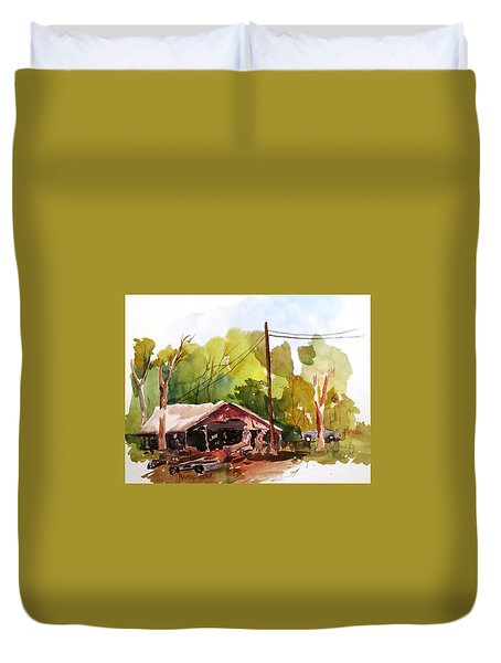 Virginia Saw Mill Duvet Cover