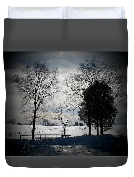 Virginia Snow Duvet Cover