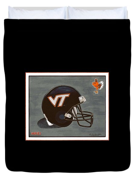Virginia Tech T-shirt Duvet Cover