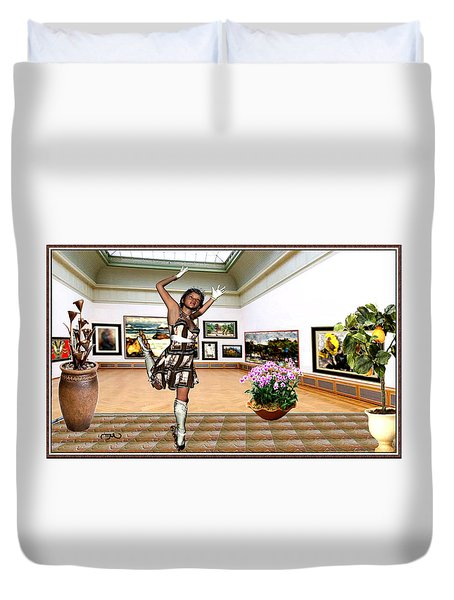 Virtual Exhibition - A Girl With A Pairro Dress Duvet Cover by Danail Tsonev