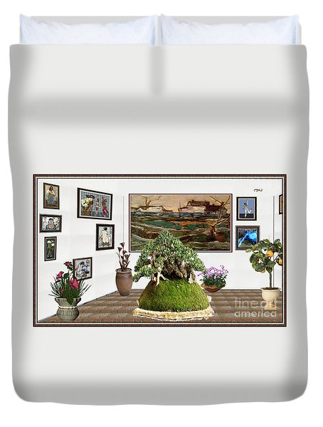 Virtual Exhibition -  Bonsai Palm 17 Duvet Cover by Pemaro