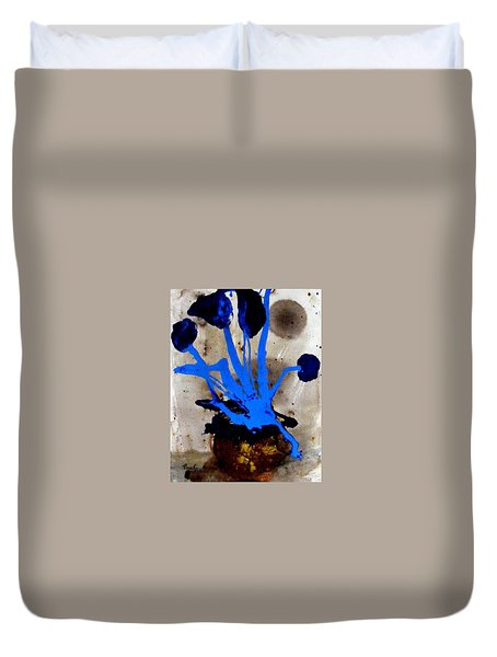 Virtually Blue Duvet Cover