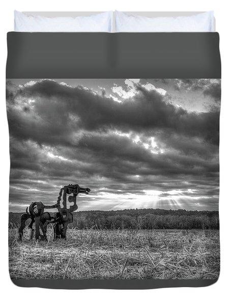 Visible Lights The Iron Horse Sunrise Art Duvet Cover