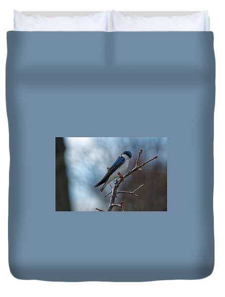 Vision In Blue Duvet Cover