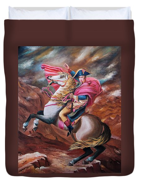 Duvet Cover featuring the painting Vision by Itzhak Richter