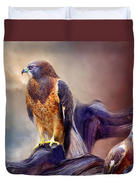Vision Of The Hawk 2 Duvet Cover by Carol Cavalaris