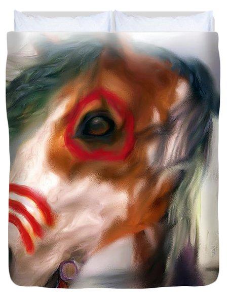Visionary War Horse Duvet Cover