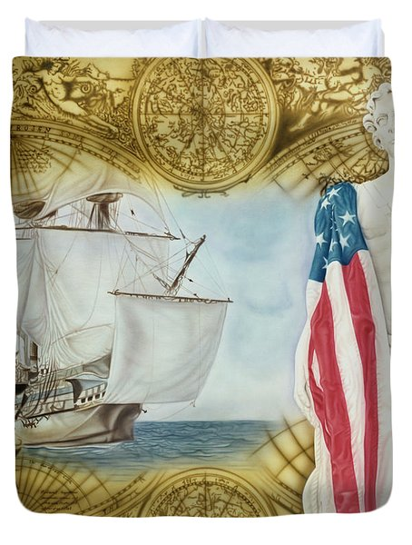 Visions Of Discovery Duvet Cover