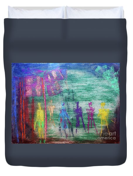 Visions Of Future Beings Duvet Cover