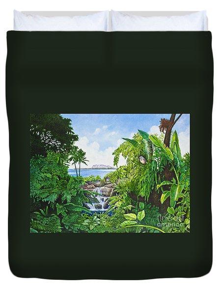 Visions Of Paradise Ix Duvet Cover