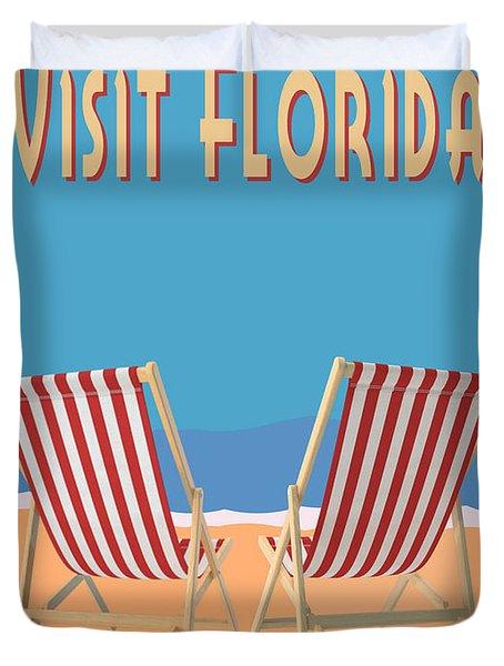Visit Florida Saint Augustine Miami Beach Key West Fort Lauderdale Duvet Cover